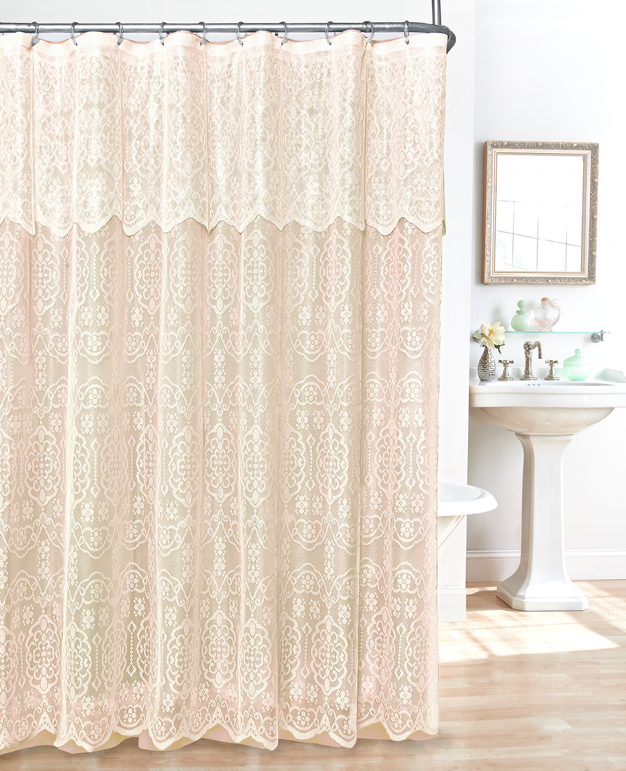 lace shower curtains